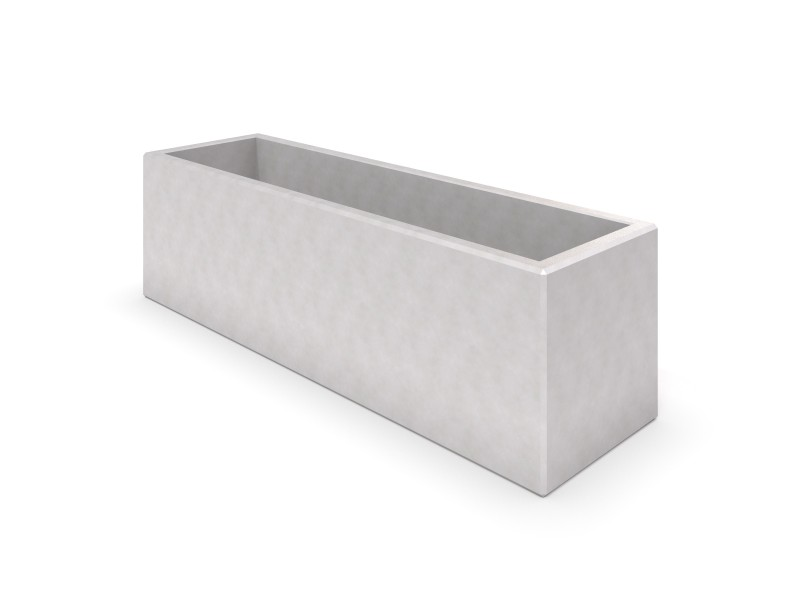 DECO white concrete planter 02 PLAYGROUNDS