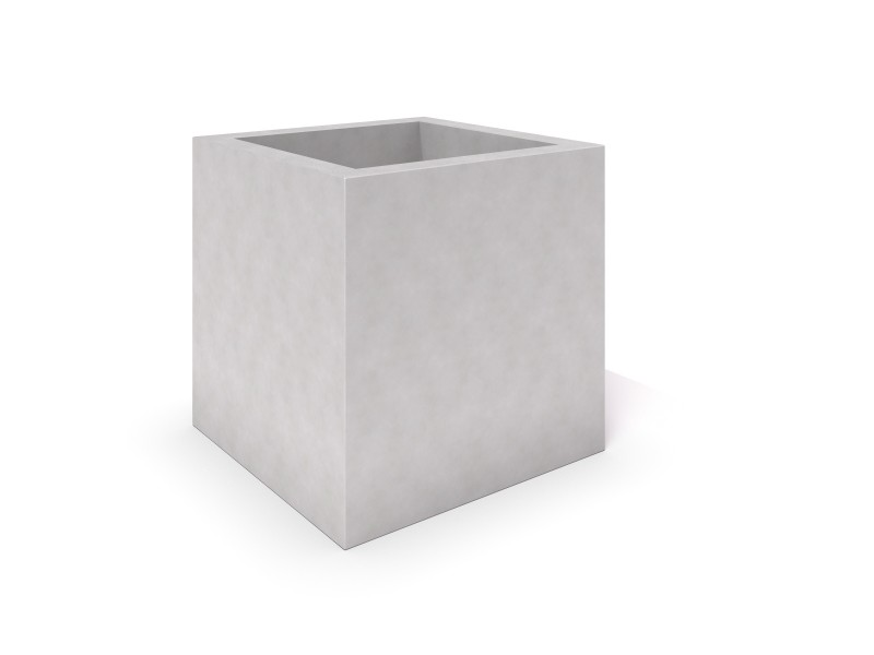 DECO white concrete planter 04 PLAYGROUNDS