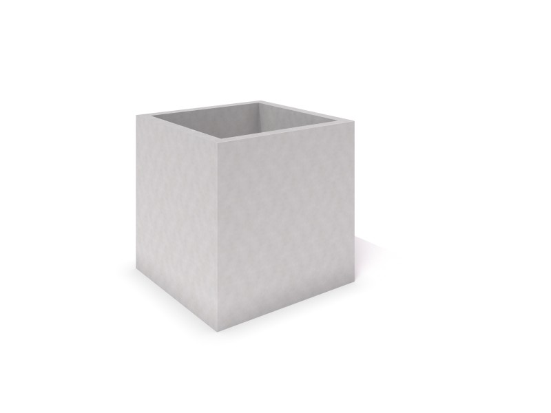 DECO white concrete planter 05 PLAYGROUNDS