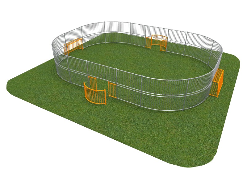 Playground Equipment for sale SOCCER RING 4 (10x8m) Professional manufacturer