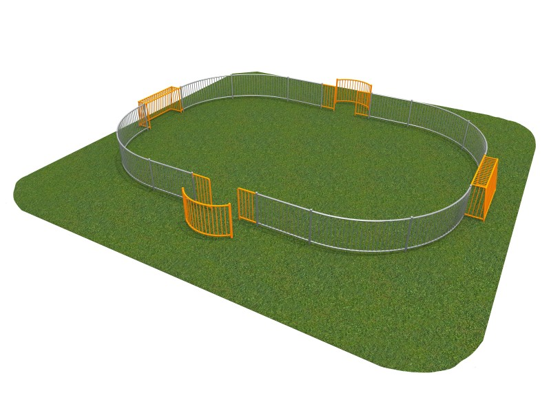 Playground Equipment for sale SOCCER RING 5 (11x8m) Professional manufacturer