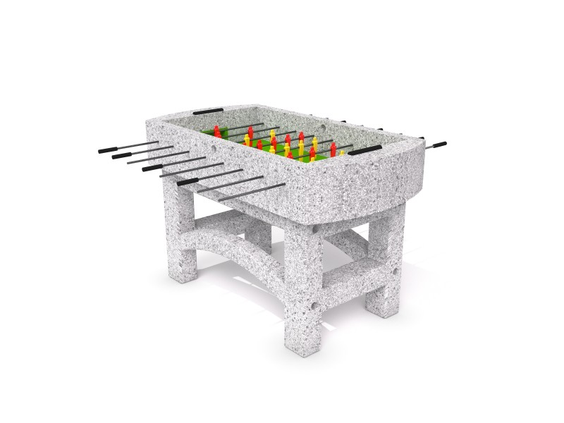 Concrete table football