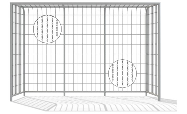 Gate 3x2m with holes