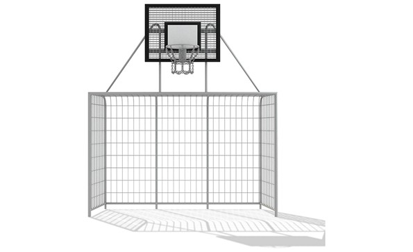 Gate with basket 3x2m