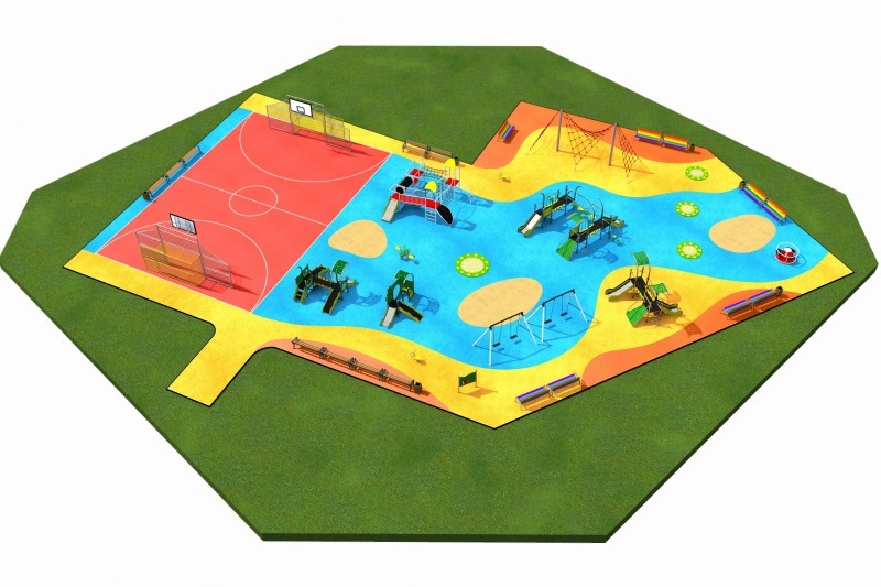 Playground Equipment for sale MIX layout  8 Professional manufacturer