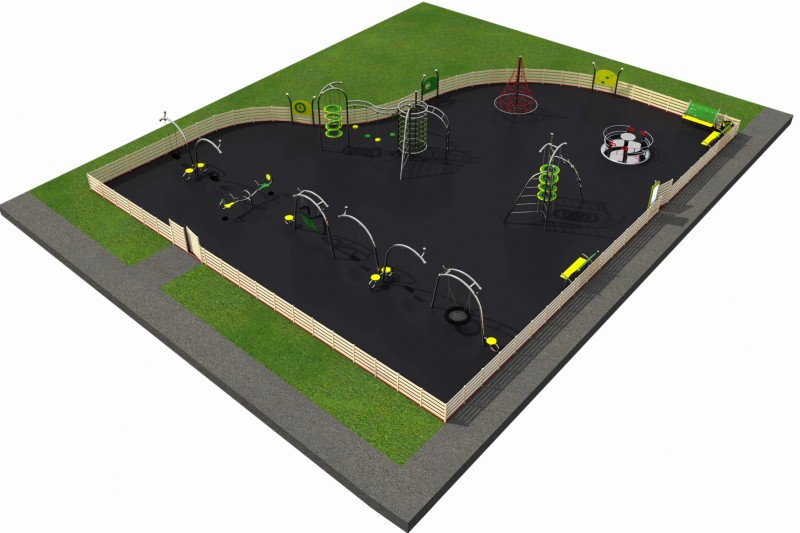 Playground Equipment for sale MIX layout 4 Professional manufacturer