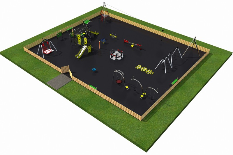 Playground Equipment for sale MIX layout 3 Professional manufacturer