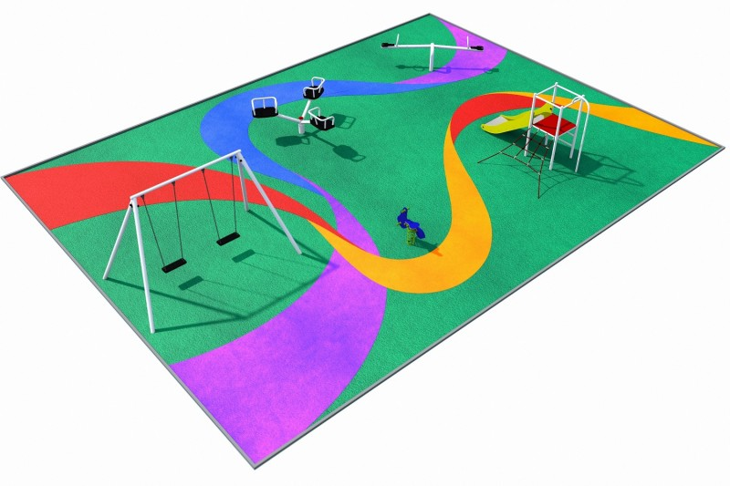 Playground Equipment for sale PARK layout 2 Professional manufacturer