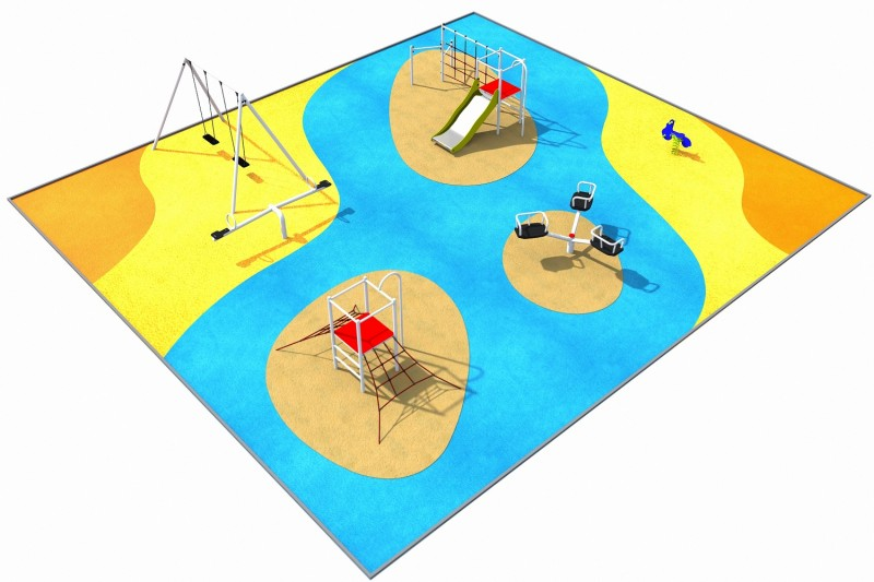 Playground Equipment for sale PARK layout 4 Professional manufacturer