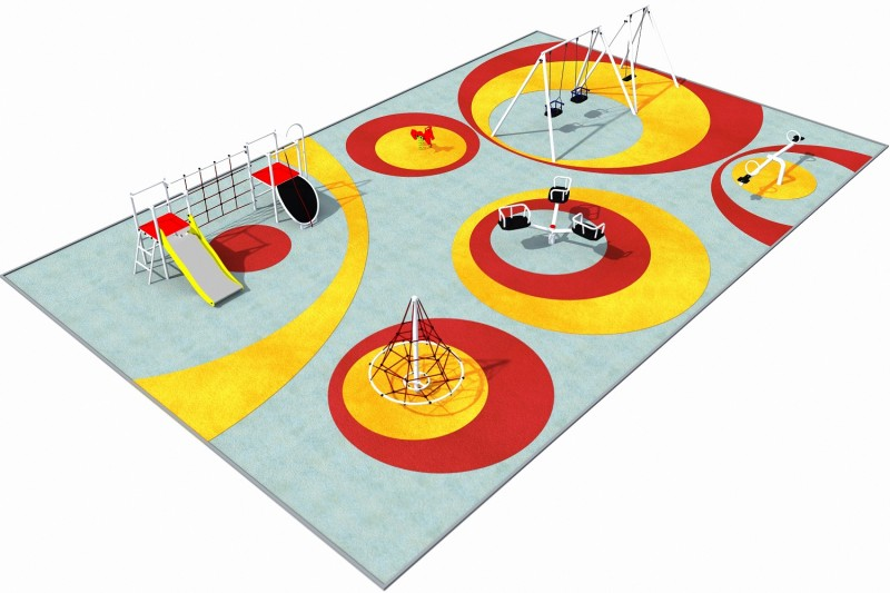 Playground Equipment for sale PARK layout 6 Professional manufacturer