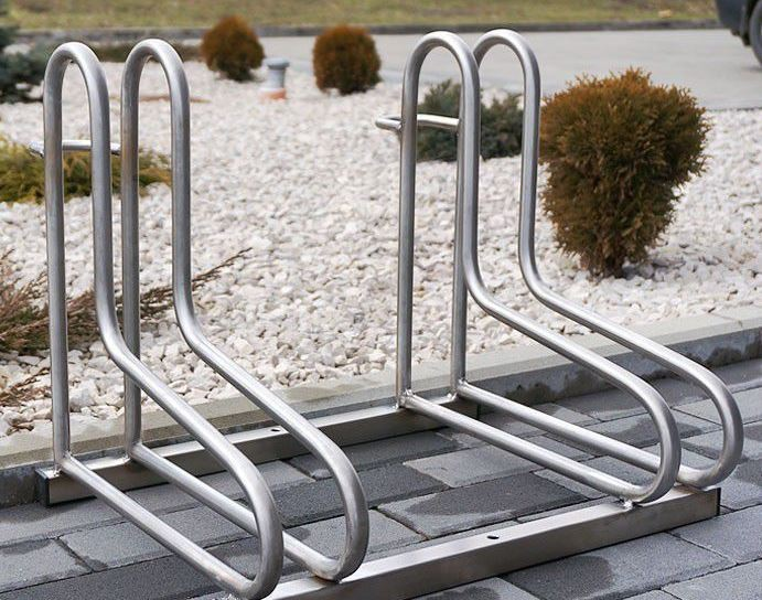 stainless steel bicycle rack 18 Inter Play Playground