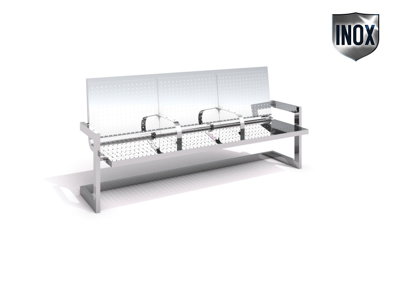 Playground Equipment for sale Stainless steel bench 11 Professional manufacturer