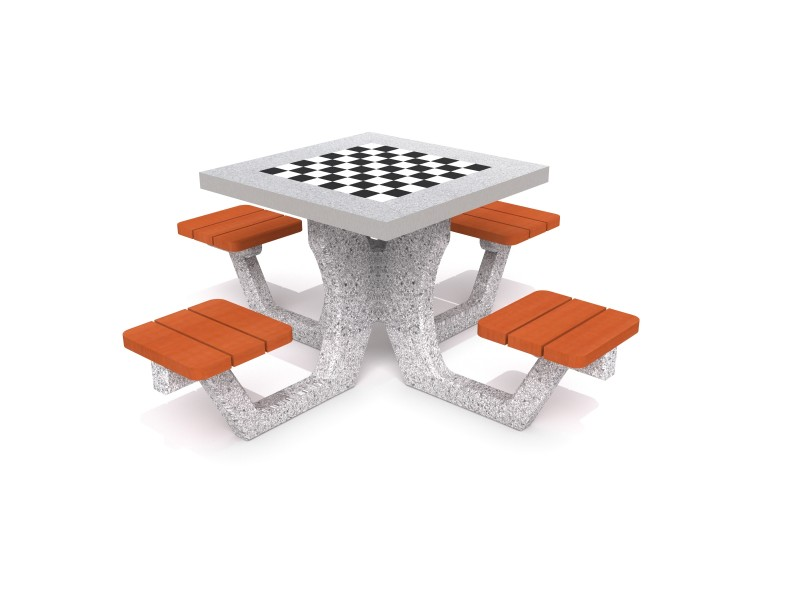 Concrete table for chess - checkers 01