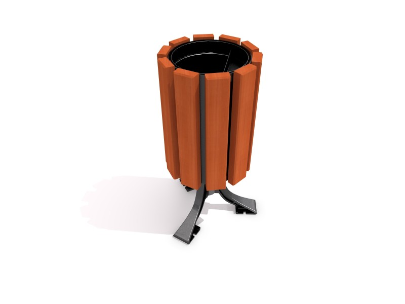 Playground Equipment for sale Steel trash bin 01 Professional manufacturer