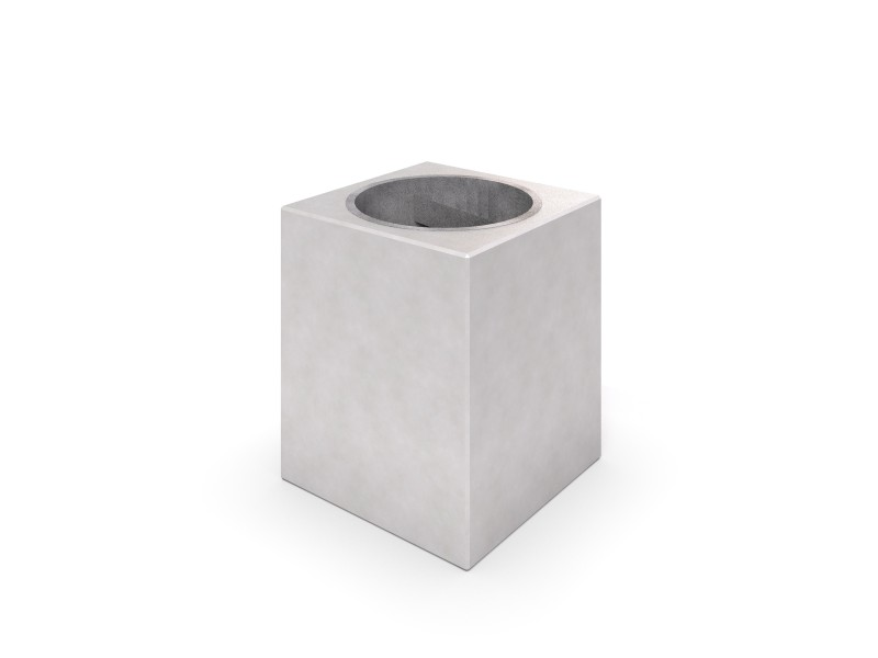 DECO white concrete trash bin 02