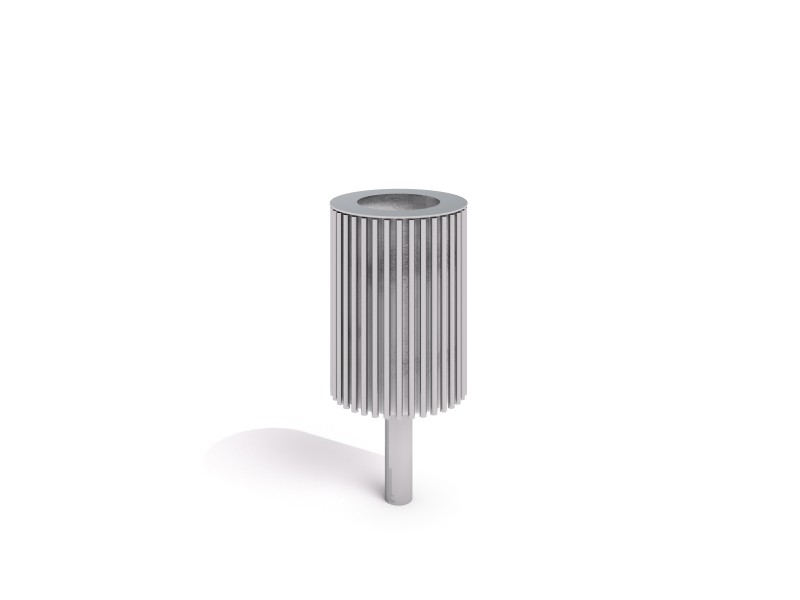 stainless steel trash bin 04 PLAYGROUNDS