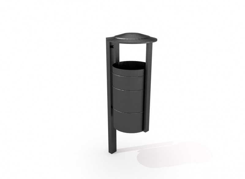 Steel trash bin 03 PLAYGROUNDS