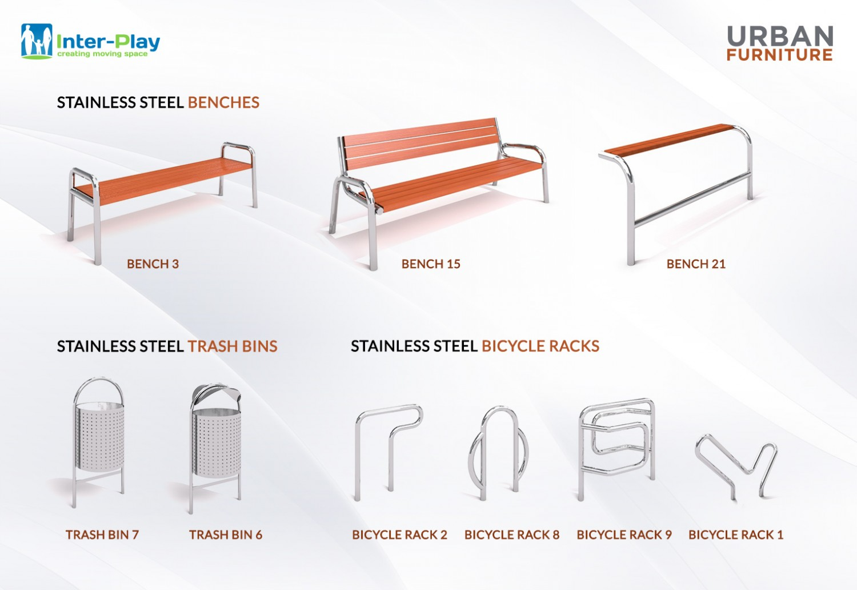 Stainless steel urban furnitures Inter Play Blog