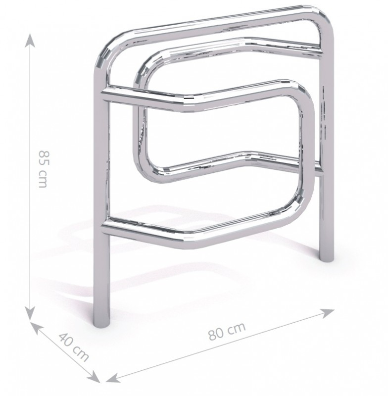 stainless steel bicycle rack 09 Inter Play Playground