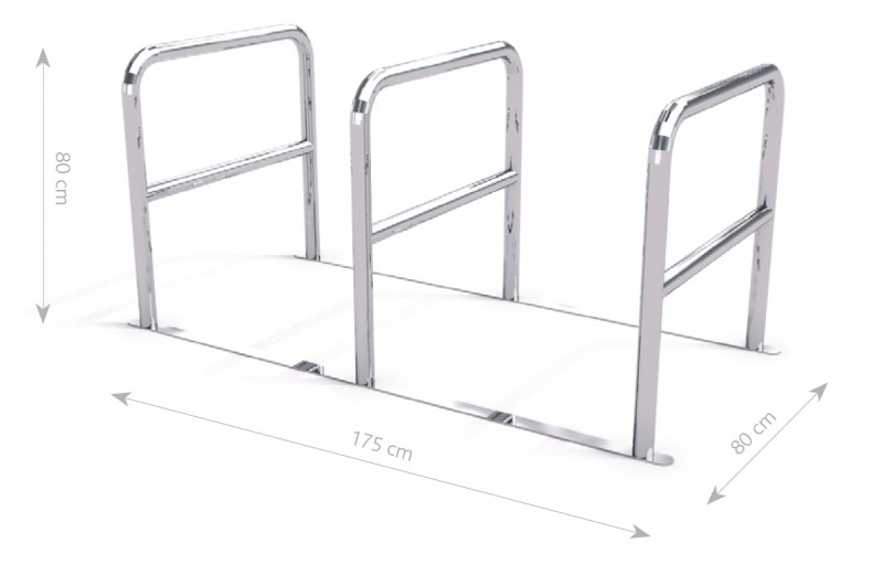 stainless steel bicycle rack 05 Inter Play Playground