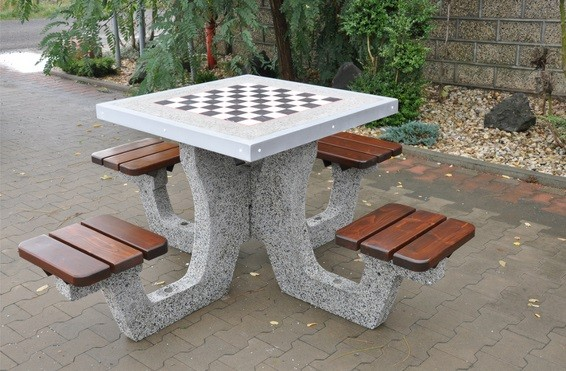 Concrete Table For Chess Checkers 01 Concrete Tables
