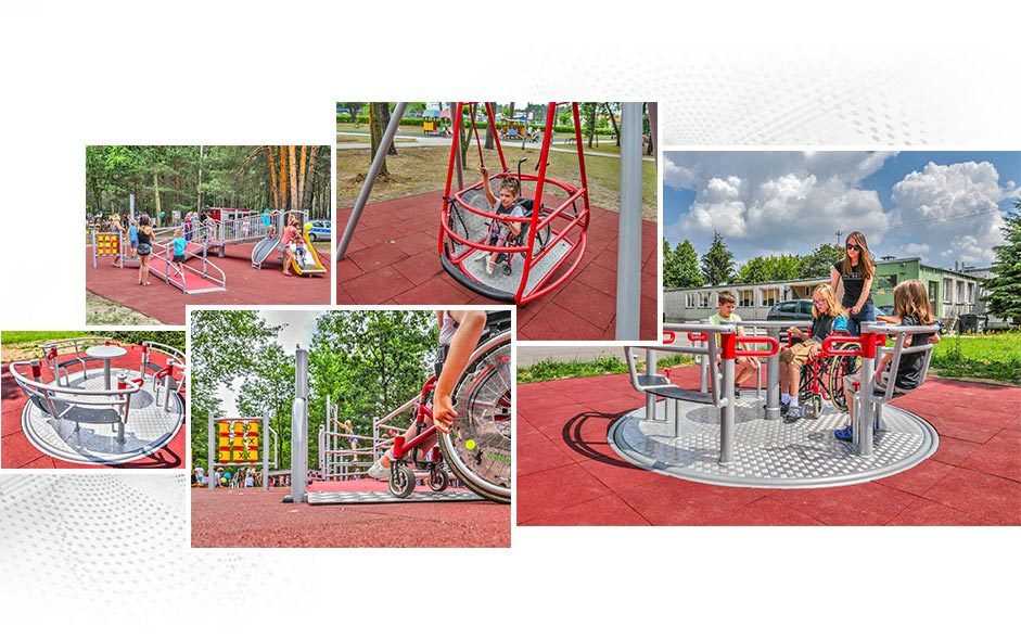 Interactive playground for disabled children