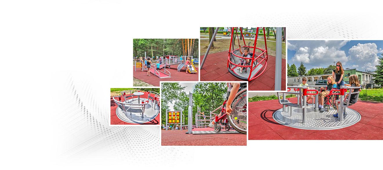 Interactive playground for disabled children